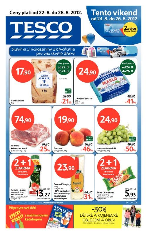 Leták Tesco hypermarkety (od 22.srpen 2012 do 28.srpen 2012)