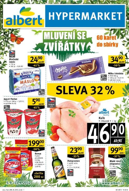 Leták Albert hypermarkety (od 5. září 2012 do 11. září 2012)