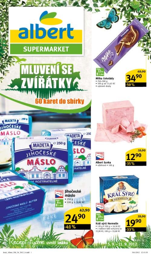 Leták Albert supermarkety (od 5. září 2012 do 11. září 2012)