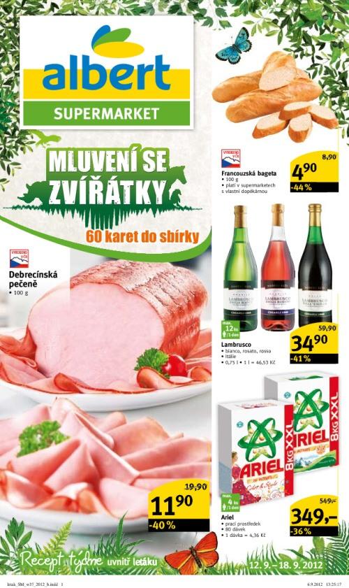 Leták Albert supermarkety (od 12. září 2012 do 18. září 2012)