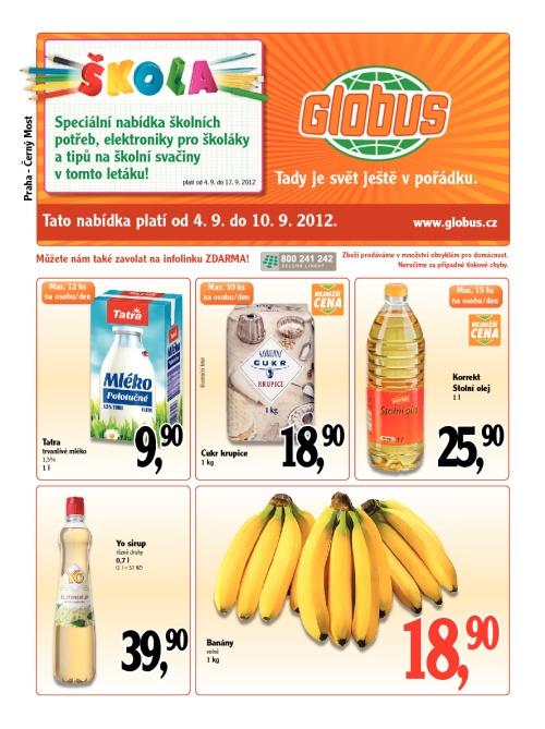 Leták Globus obchody (od 4. září 2012 do 10. září 2012)