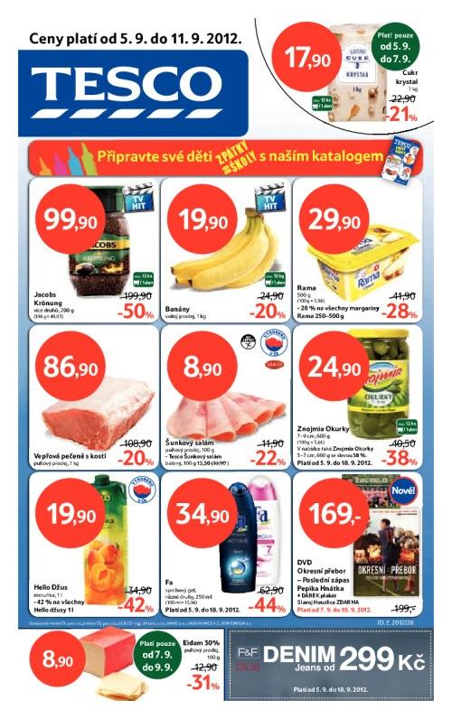Leták Tesco hypermarkety (od 5. září 2012 do 11. září 2012)