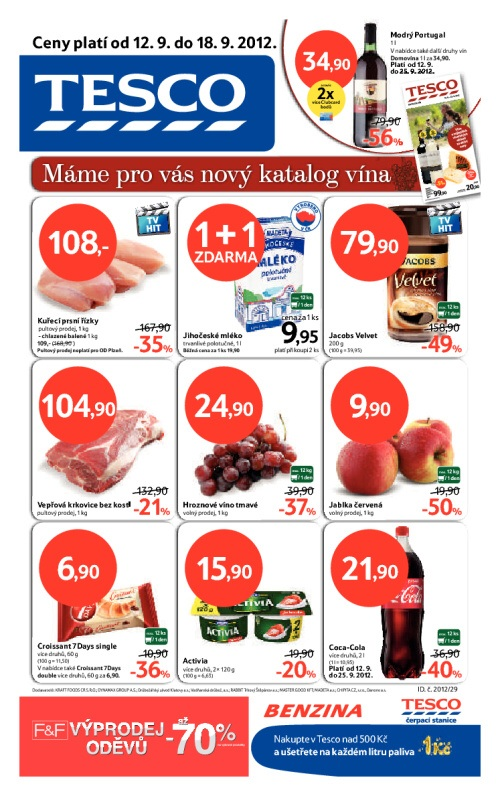 Leták Tesco hypermarkety (od 12. září 2012 do 18. září 2012)