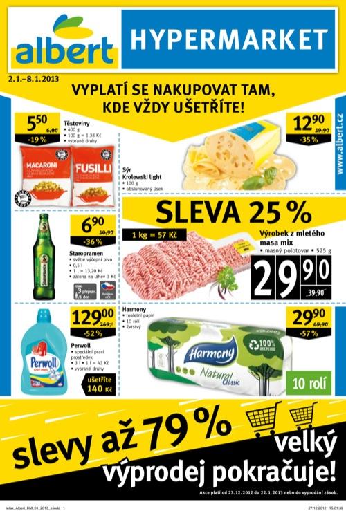 Leták Albert hypermarket (od 2. 1. do 8. 01. 2013)