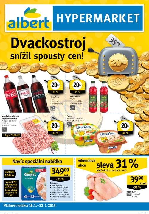 Leták Albert hypermarket (od 16. 1. do 22. 01. 2013)