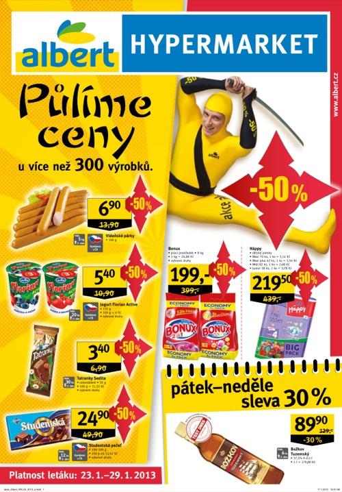 Leták Albert hypermarket (od 23. 1. do 29. 01. 2013)