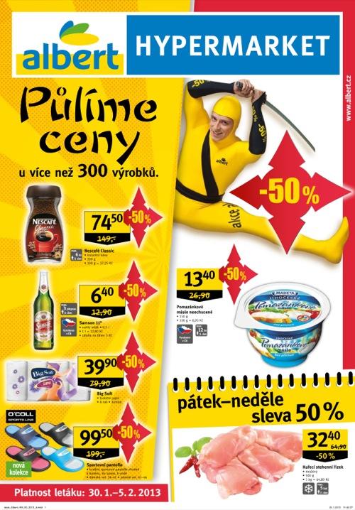 Leták Albert hypermarket (od 30. 1. do 5. 02. 2013)