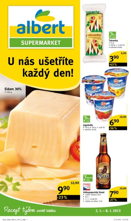 Leták Albert supermarket (od 2. 1. do 8. 01. 2013)