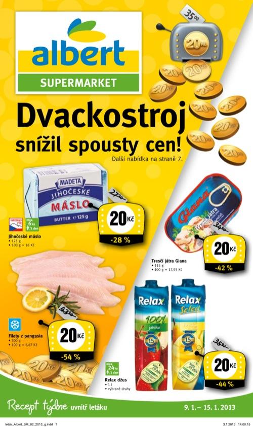 Leták Albert supermarket (od 9. 1. do 15. 01. 2013)