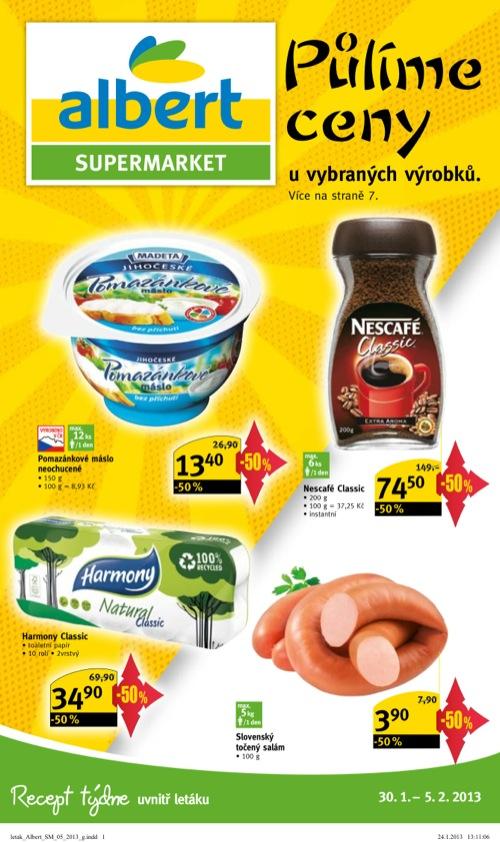 Leták Albert supermarket (od 30. 1. do 5. 02. 2013)