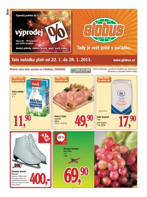 Leták Globus novinky (od 22. 1. do 28. 01. 2013)