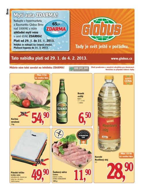 Leták Globus novinky (od 29. 1. do 4. 02. 2013)