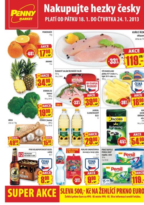 Leták Penny Market  (od 18. 1. do 24. 01. 2013)