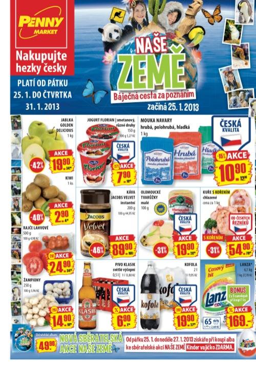 Leták Penny Market  (od 25. 1. do 31. 01. 2013)