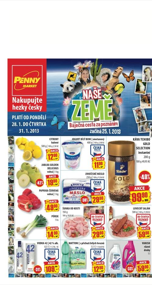 Leták Penny Market  (od 28. 1. do 31. 01. 2013)