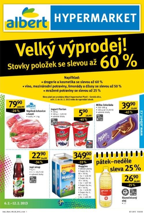 Leták Albert hypermarket (od 6. 2. do 12. 02. 2013)