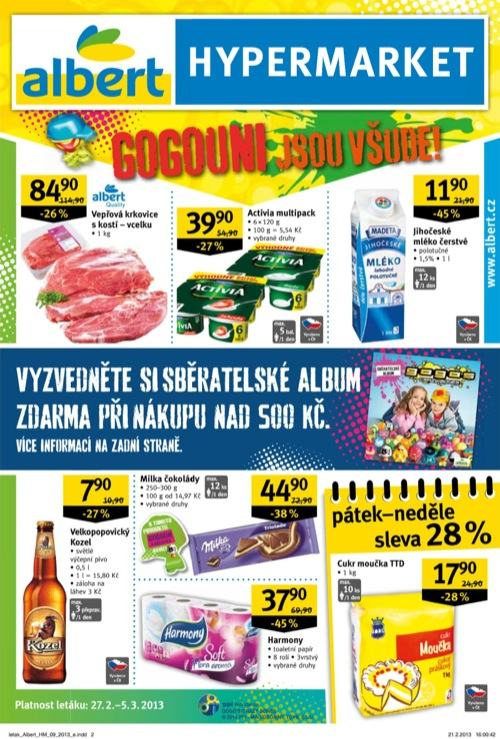 Leták Albert hypermarket (od 27. 2. do 5. 03. 2013)