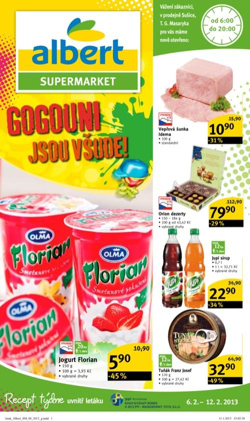 Leták Albert supermarket (od 6. 2. do 12. 02. 2013)