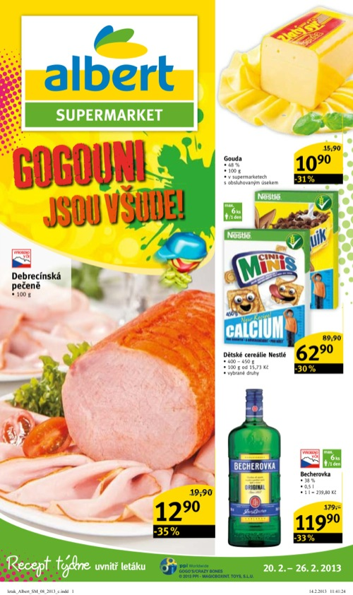 Leták Albert supermarket (od 20. 2. do 26. 02. 2013)