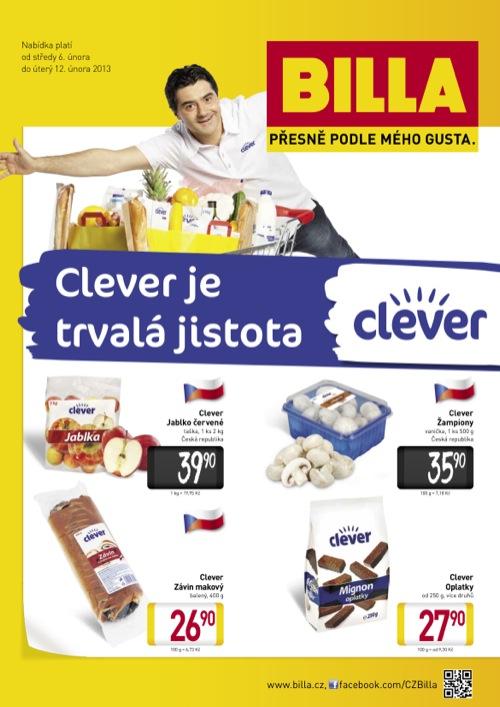 Leták Billa clever (od 6. 2. do 12. 02. 2013)