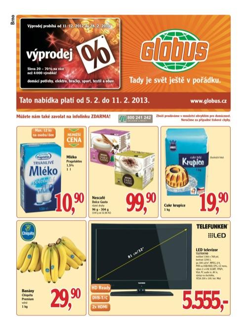 Leták Globus novinky (od 5. 2. do 11. 02. 2013)