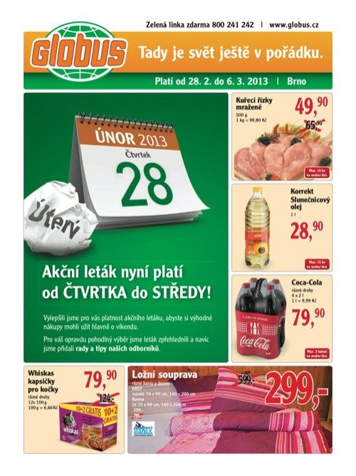 Leták Globus novinky (od 28. 2. do 6. 03. 2013)
