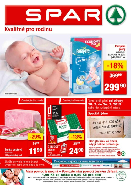 Leták INTERSPAR spar (od 20. 2. do 26. 02. 2013)