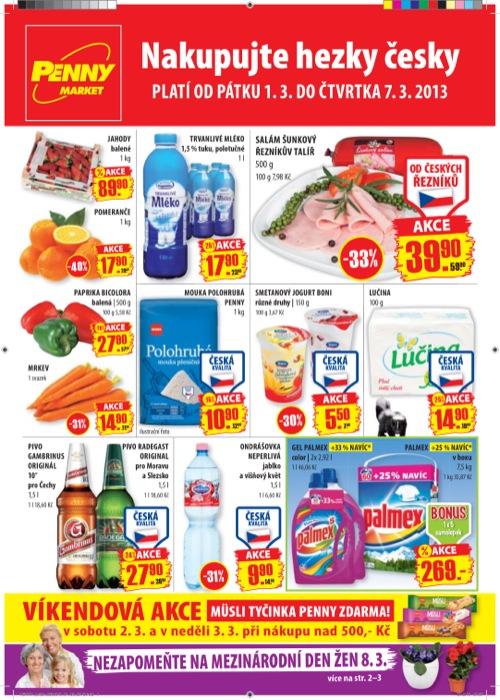 Leták Penny Market  (od 1. 3. do 7. 03. 2013)