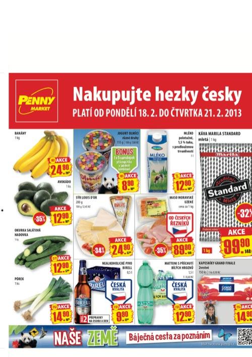Leták Penny Market  (od 18. 2. do 21. 02. 2013)