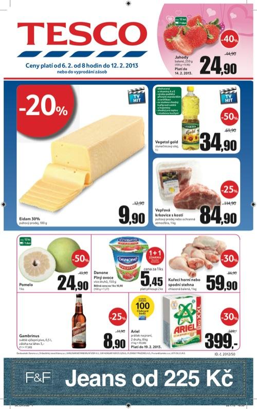 Leták Tesco hypermarket velký (od 6. 2. do 12. 02. 2013)
