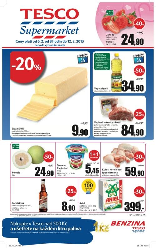 Leták Tesco supermarket (od 6. 2. do 12. 02. 2013)