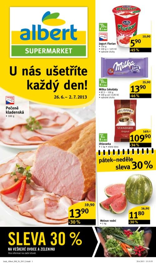 Leták Albert supermarket (od 26. 6. do 2. 07. 2013)