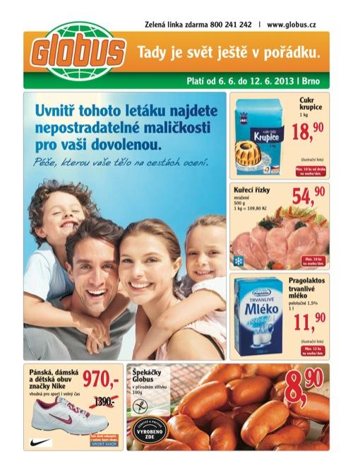 Leták Globus novinky (od 6. 5. do 12. 06. 2013)