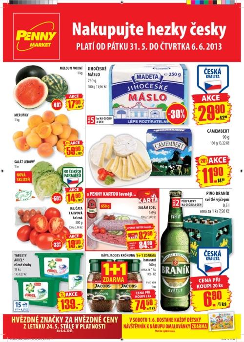 Leták Penny Market  (od 31. 5. do 6. 06. 2013)