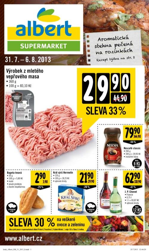 Leták Albert supermarket (od 31. 7. do 6. 08. 2013)