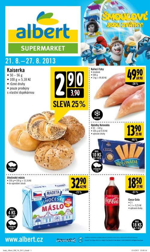 Leták Albert supermarket (od 21. 8. do 27. 08. 2013)