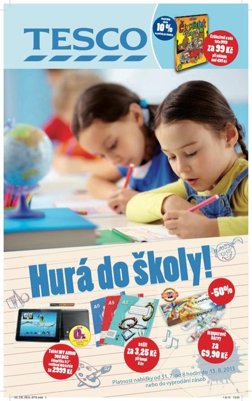 Leták Tesco hurá do školy (od 31. 7. do 13. 08. 2013)