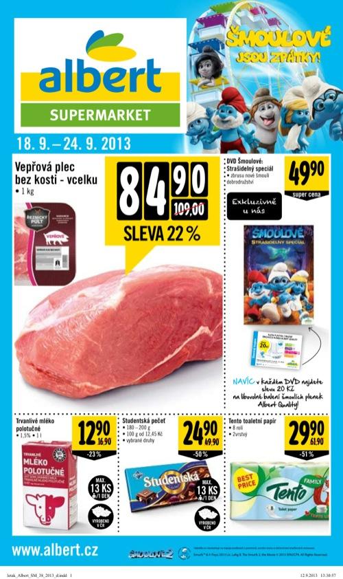 Leták Albert supermarket (od 18. 9. do 24. 09. 2013)