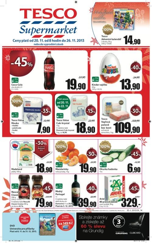 Leták Tesco supermarket (od 20. 11. do 26. 11. 2013)