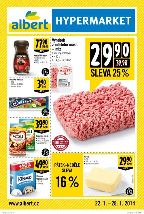 Leták Albert supermarket (od 22. 1. do 4. 02. 2014)
