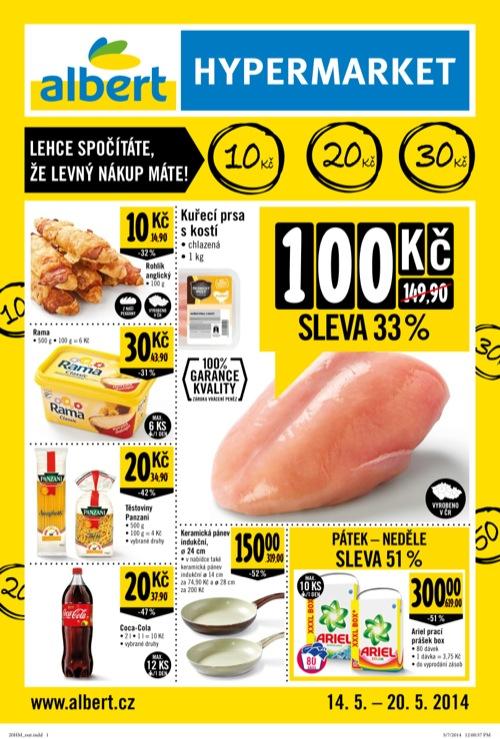 Leták  hypermarket (od 14. 5. do 20. 05. 2014)