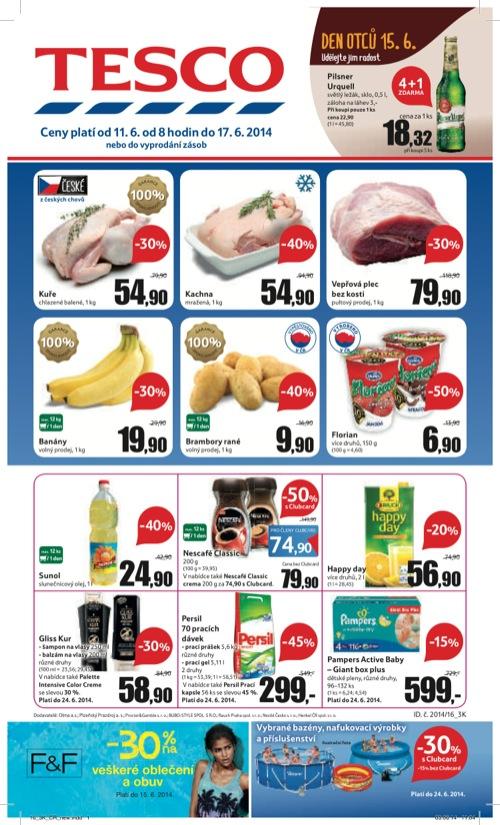 Leták Tesco hypermarket velký (od 11. 6. do 17. 06. 2014)