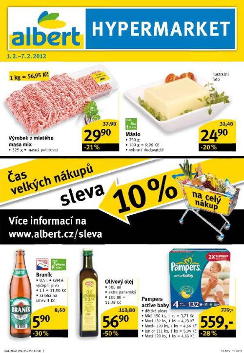 Leták Albert hypermarket (od 1.2.2012 do 7.2.2012)