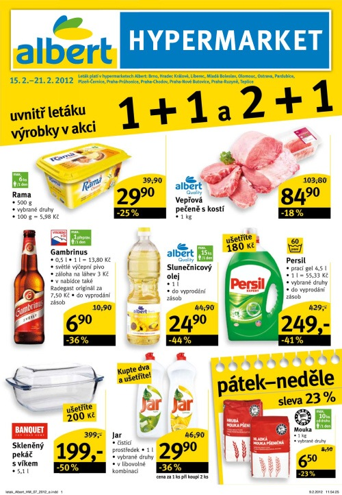 Leták Albert hypermarkety (od 15.2. do 21.2.2012)