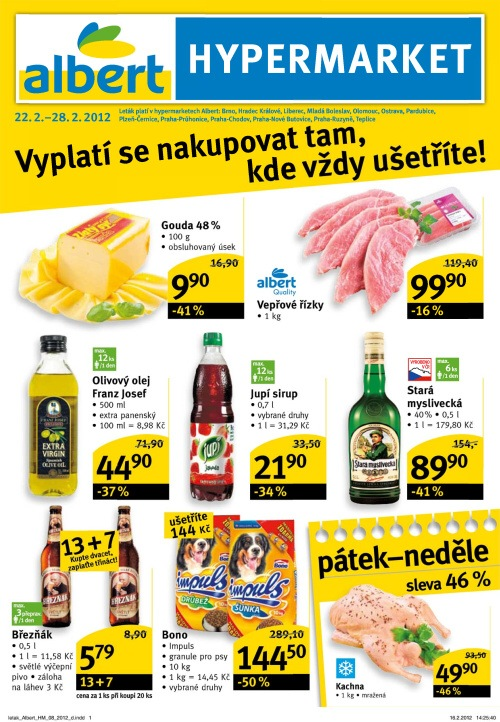 Leták Albert hypermarkety (od 22. únor 2012 do 28. únor 20122012)
