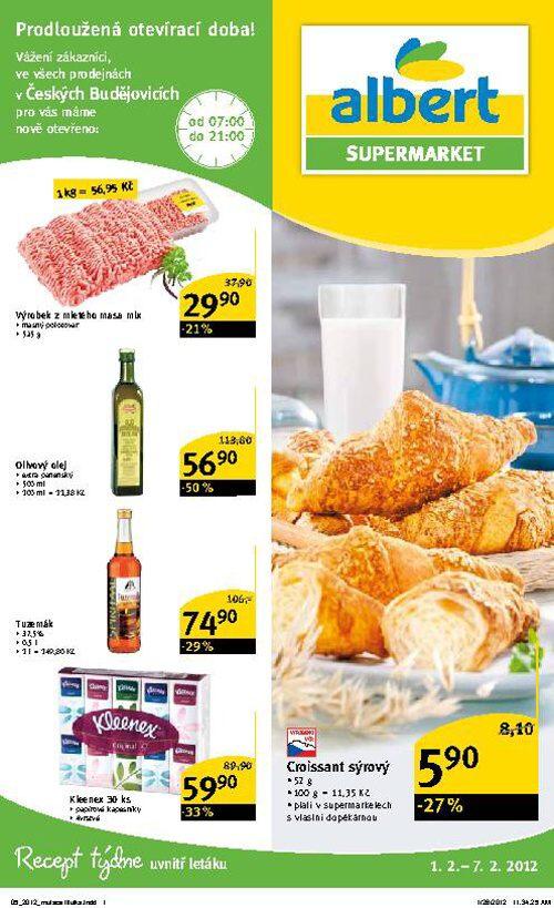 Leták Albert supermarket (od 1. únor 2012 do 7. únor 2012)