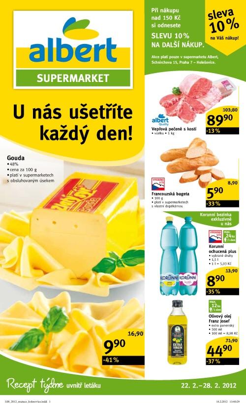 Leták Albert supermarkety (od 22. únor 2012 do 28. únor 20122012)