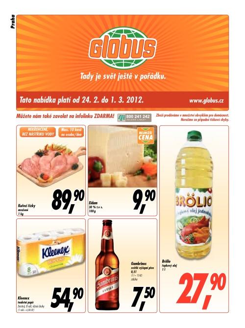 Leták Globus  (od 24. únor 2012 do 1. březen 20122012)