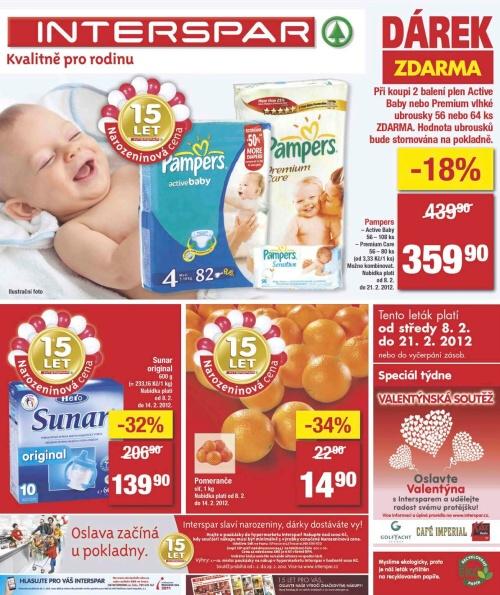 Leták Interspar  (od 8. únor 2012 do 21. únor 2012)