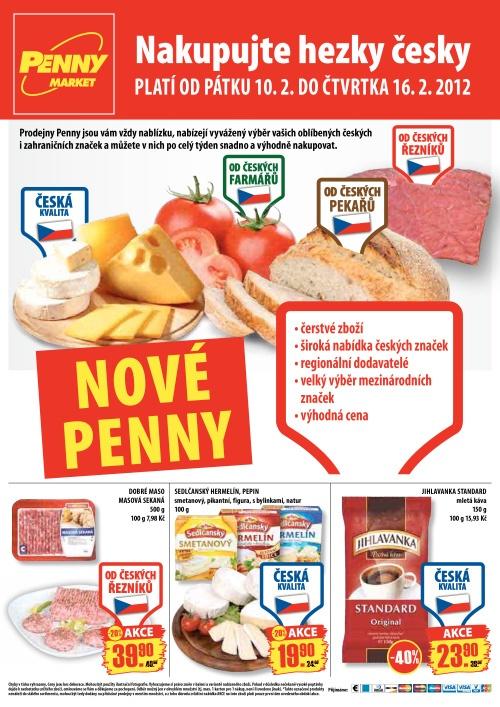 Leták Penny Market  (od 10. únor 2012 do  16. únor 2012)